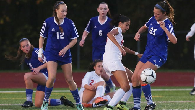 Pearl River defeated Somers 2-1 in the girls soccer Section 1 Class A  championship game at Yorktown High School Oct. 30, 2016.