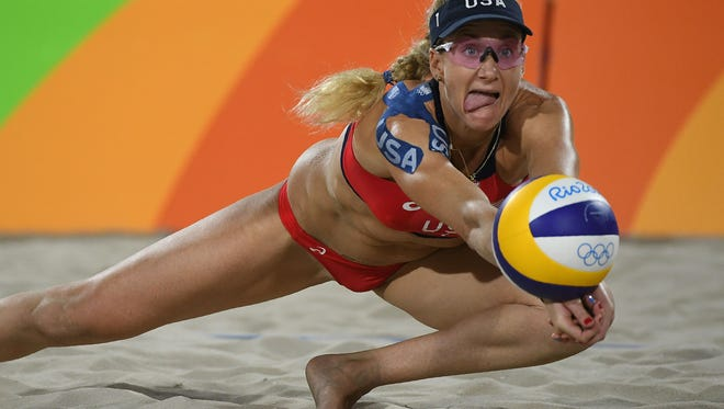 Kerri Walsh Jennings has won 117 consecutive Olympic matches in beach volleyball - and three gold medals.
