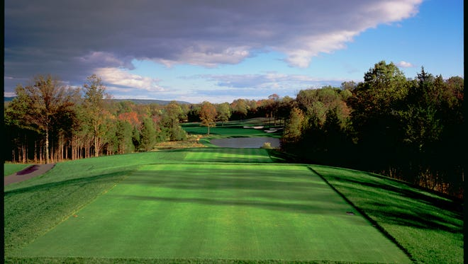 A view of the 16th tee of the Trump National Golf Club in Bedminster, NJ.