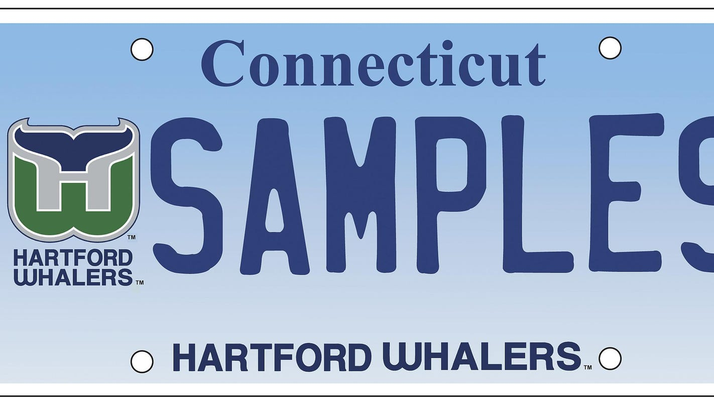 Conn. unveils license plate for long-gone team