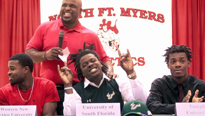 5 football players sign from North Fort Myers High