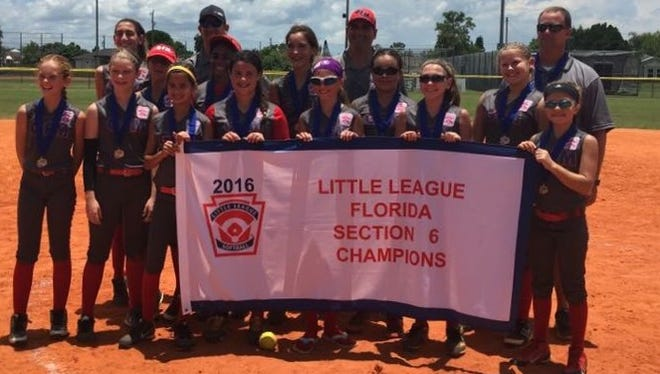The Greater Fort Myers 11-12 softball team won the Section 6 title over Lehigh Acres.