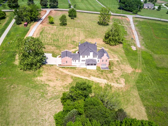 The drone provided a bird's eye view of the house and