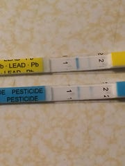 The H2O OK Plus drinking water test kit uses paper