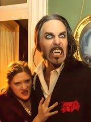 "Marie Schmidt and Matt Wiggins in a photo illustration from ""Dracula Evermore,"" produced by Iowa Shakespeare Experience."