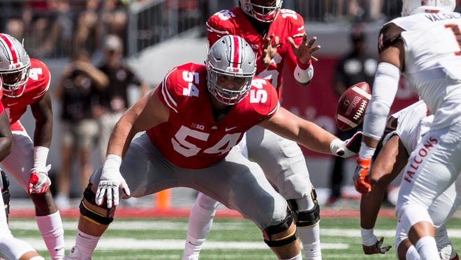 Fifth-year senior Billy Price is moving over a couple of feet from right guard to be the guy snapping the ball to quarterback J.T. Barrett in what promises to be a more uptempo attack.
