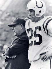 Weeb Ewbank, left, coached the Colts from 1954 to 1962.