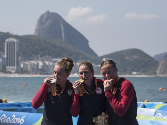 Silver medalist Hailey Danisewicz, Gold medalist Allysa