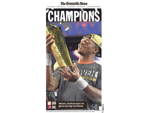 Purchase a commemorative poster to celebrate Clemson's awesome season!
