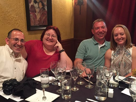 Wine and dine The Tuscan Wine Room was nearly sold out for the recent partnership between Just Rennie's and the Wine Vault. A five-course dinner with wine pairings was enjoyed by Steve and Dixie Halber and Nathan and Diane Marret.