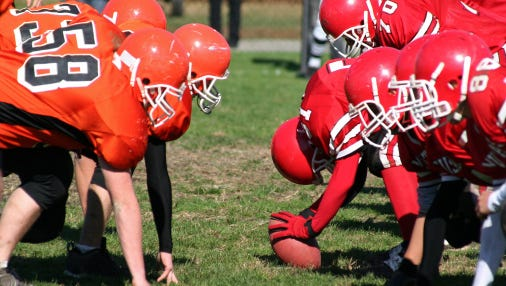 Signup for the Raptors football and cheerleading programs starts May 2 at the Rapids Mall.