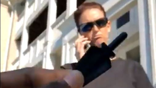 A screen capture of the video taken by Indianapolis resident Shayne Holland after he says he was racially profiled by an off-duty police officer and told to leave his apartment pool.