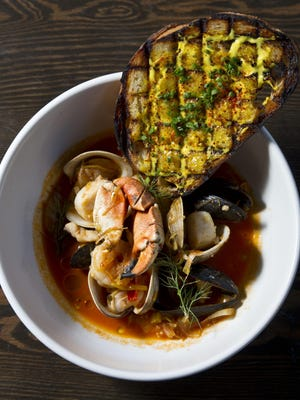 A bowl of bouillabaisse, a traditional French fish stew, from The Bonney Read. The restaurant is one of more than two dozen participating in next month's Asbury Park Restaurant Tour.