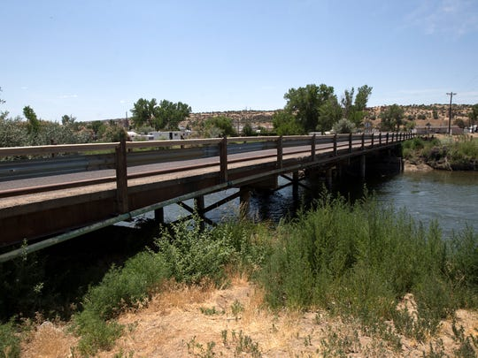 This bridge over the San Juan River on County Road 5500 was constructed by local farmers and dates to the 1970s.