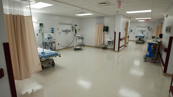 The new surgery recovery rooms are seen as Elmore Community