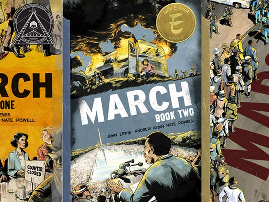 """The """"March"""" trilogy is now available in a slipcase set."""