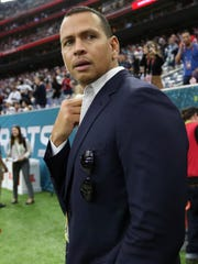 """You don't need to be defined by your mistakes. It's how you handle them. I feel like I'm still rounding first base,'' said Alex Rodriguez, in Houston before Super Bowl LI between the Atlanta Falcons and the New England Patriots at NRG Stadium on Sunday, Feb. 5, 2017."