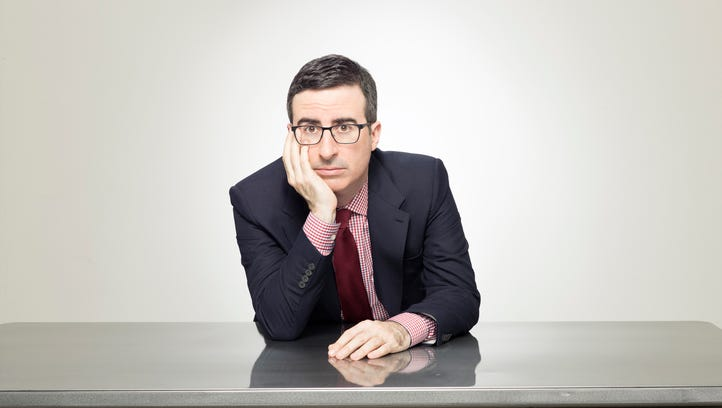 What John Oliver looked like after Coldplay played