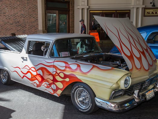 A 1957 Ford Ranchero during Hot August Nights in downtown