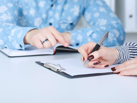 The employer forces the employee to write a letter of resignation.