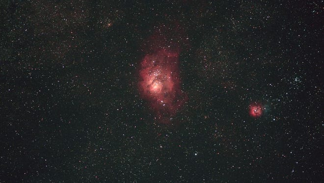 The Lagoon and Trifid nebula.