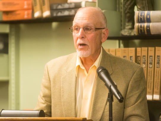 Wall of Warriors honoree Joe Ardito speaks during the