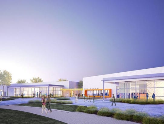 This is a rendering of the Rio STEAM Academy that is