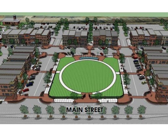 A rendering of the walkable downtown area Mauldin is
