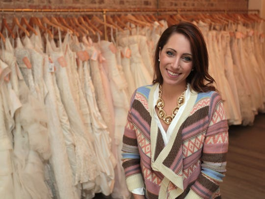 Raven Cotton owns a bridal shop, The Dress, in downtown
