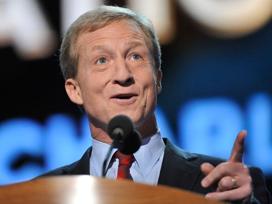 Tom Steyer, a Democratic billionaire who has dominated