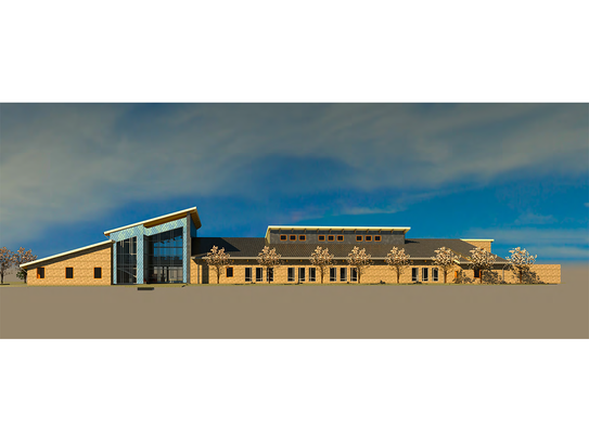 Rendering of the proposed Gulf Coast Marine Fisheries Hatchery and Enhancement Center
