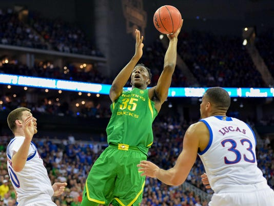 NCAA Basketball: NCAA Tournament-Midwest Regional-Kansas vs Oregon
