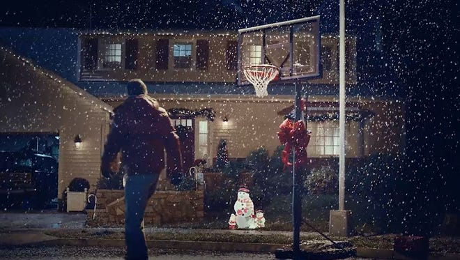 """An image from the Dick's Sporting Goods ad, """"The Hoop."""""""