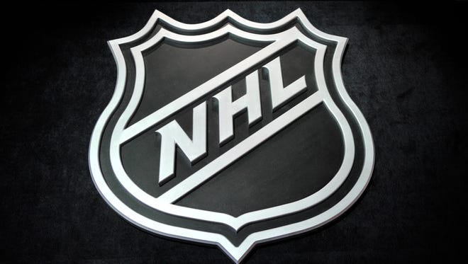 A general view of the NHL shield logo.