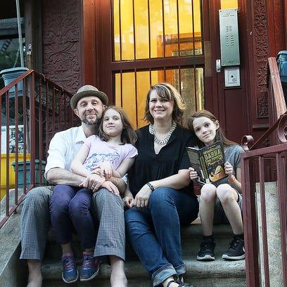 Dan Friedman, Lora LaVon and their daughters, Thalia,