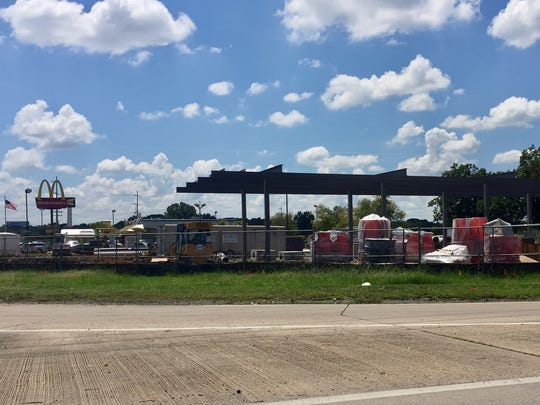 Murphy USA Express is under construction on the western corner of the intersection of Ambassador Caffery Parkway and Cameron Street.