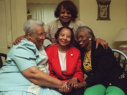 Dorothy Lewis, left, Willie Glanton, Frances Hawthrone and Jeannette Bethel (standing) were co-founding members of Des Moines' chapter of Jack & Jill. Jack and Jill originally was a social and educational group for black mothers and their children.