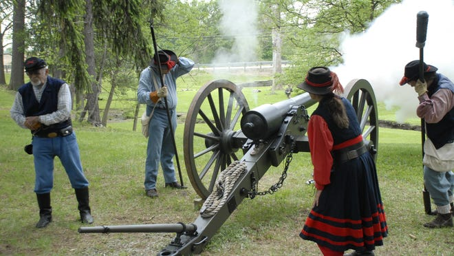 Cannons provided loud excitement during the re-enacted Battle of Gray Goose Creek.