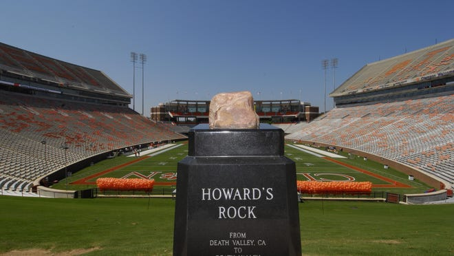 A man accused of stealing a portion of Howard's Rock at Clemson University is scheduled to appear in court Monday in Pickens County.