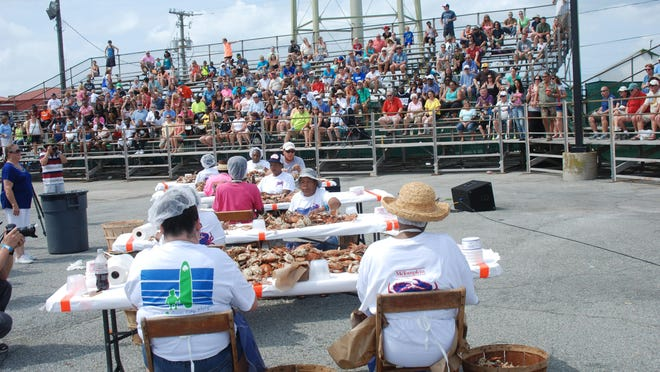 This year's Crab-Picking Contest was marred by an accusation that one of the contestants cheated. No one person was declared a winner.