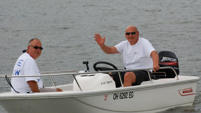 John Hoopingarner (R) plans to do some boating among other activities during his retirement.