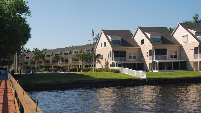 The River is a townhouse complex on the Caloosahatchee River with homes that can sell for less than $150,000.