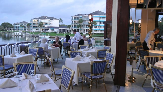 Fish has a prime corner view on the northeast side of The Village on Venetian Bay and the most outdoor waterfront seating.