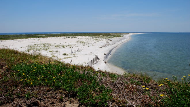 View of the west tip of Ship Island from Fort Massachusetts that is part of the Gulf Islands National Seashore.
