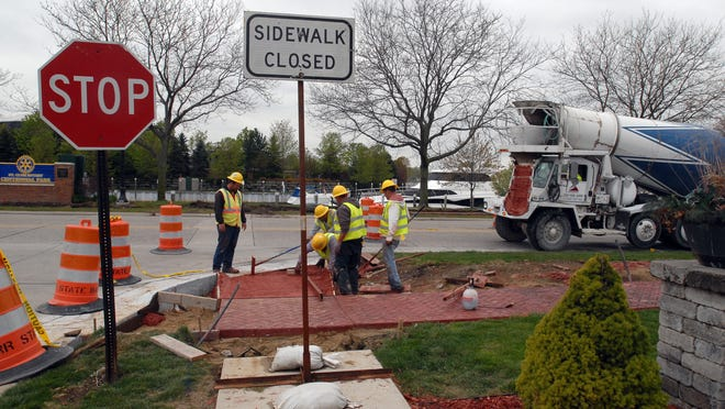 The St. Clair Downtown Development Authority paid for a streetscape along Clinton Avenue.