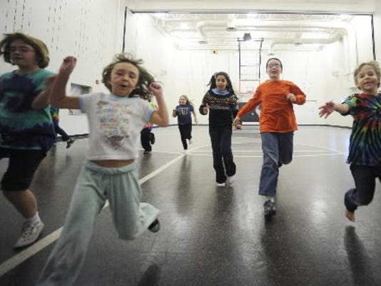 Third-graders are tested in the Progressive Aerobic Cardiovascular Endurance Run at Clearview Elementary School. The kids were in their final week of the Generation  C  after-school obesity-prevention pilot program, which incorporates physical activity, nutritional education and healthy snacks.