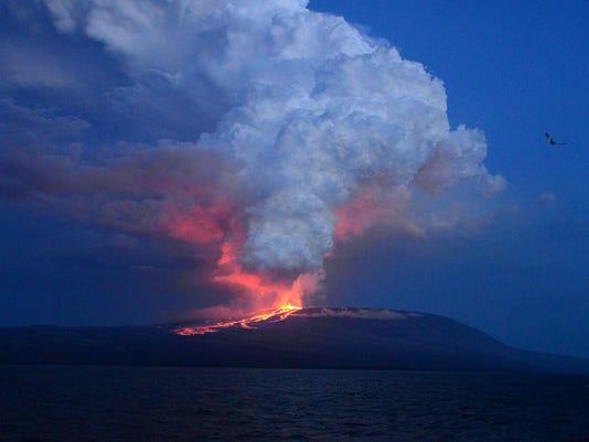 Ecuador Galapagos Volcano