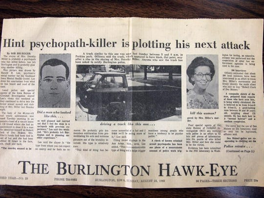A copy of the local newspaper coverage is part of the evidence on file in a cold case of the 1969 murder of Dorothy Miller in Burlington.