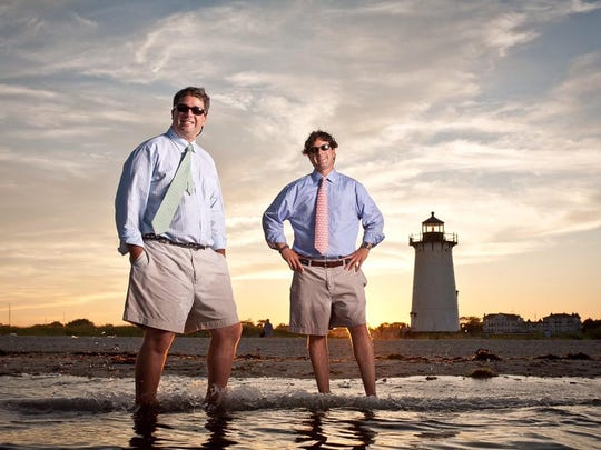 Brothers Shep Murray (left) and Ian Murray, who founded the Vineyard Vines clothing company in 1998.