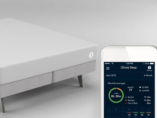 The Sleep Number it mattress is embedded with sensors that track information while you sleep, including breathing patterns, movement and heart rate, and you can access the data for suggestions on how to improve your sleep.